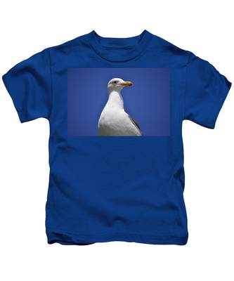 Kids T-Shirt featuring the photograph Seagull by Bridgette Gomes