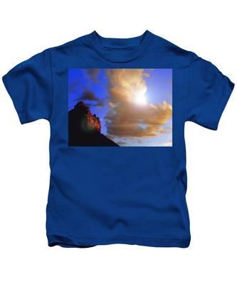 Sedona Mountain Cloud Sun Kids T-Shirt