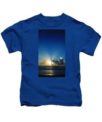 Sun Ray Sunrise Kids T-Shirt