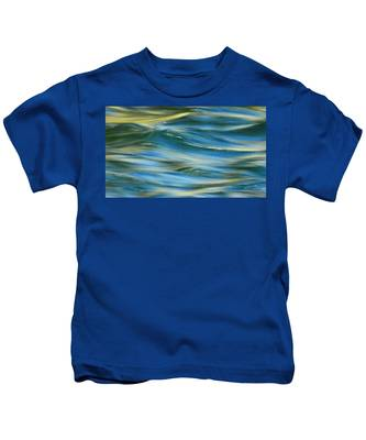 Sunlight Over The River Kids T-Shirt