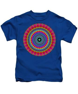 Super Rainbow Mandala Kids T-Shirt