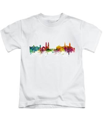 Zurich Switzerland Skyline Kids T-Shirt