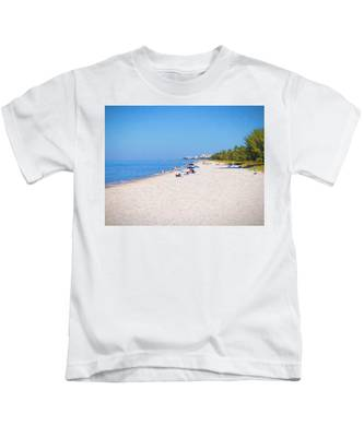 A Day At Naples Beach Kids T-Shirt