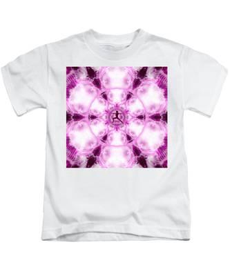 Kids T-Shirt featuring the digital art Meditation Galaxy 4 by Derek Gedney