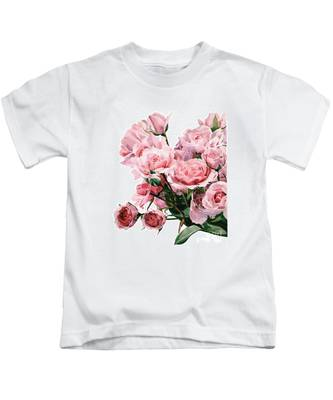 Pink Rose Bouquet Kids T-Shirt