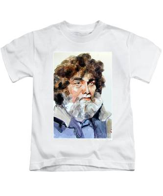 Watercolor Portrait Of A Sailor Kids T-Shirt