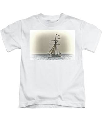 Sailing Off Kids T-Shirt