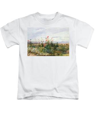 Wildflowers With A View Of Dublin Dunleary Kids T-Shirt