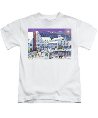 Wintertime At Waterville Valley New Hampshire Kids T-Shirt