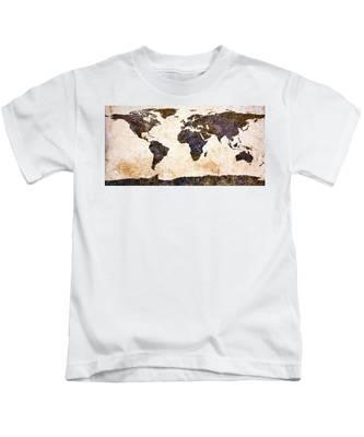 World Map Abstract Kids T-Shirt