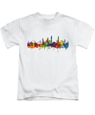 Bangkok Thailand Skyline Kids T-Shirt