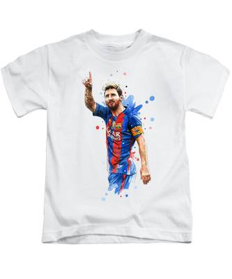separation shoes a7cda 0566f Lionel Messi Kids T-Shirts | Fine Art America