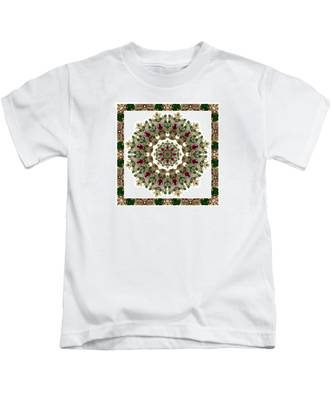 Ruby And Emerald Kaleidoscope Kids T-Shirt
