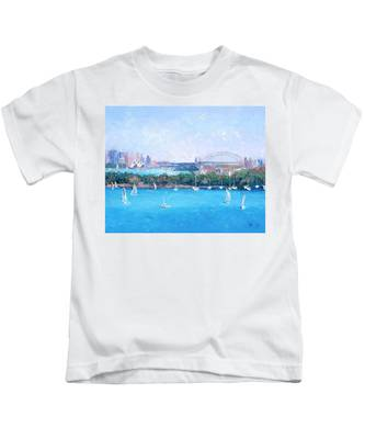Sydney Harbour And The Opera House By Jan Matson Kids T-Shirt