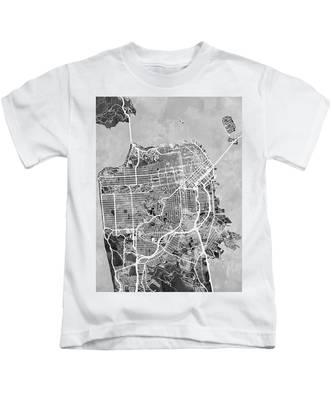 San Francisco City Street Map Kids T-Shirt