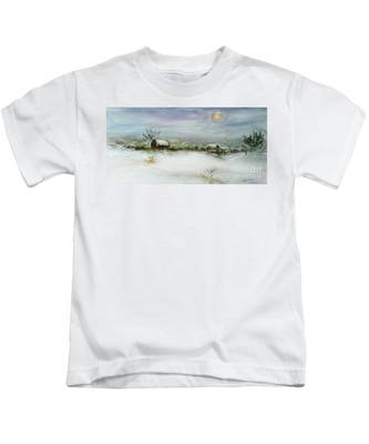 After A Heavy Fall Of Snow Kids T-Shirt
