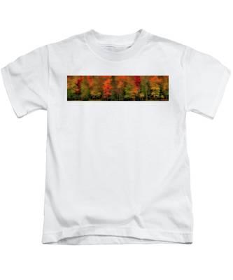 Autumn Fence Line Kids T-Shirt