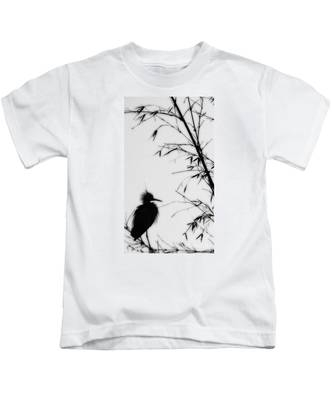 Baby Egret Waits Kids T-Shirt