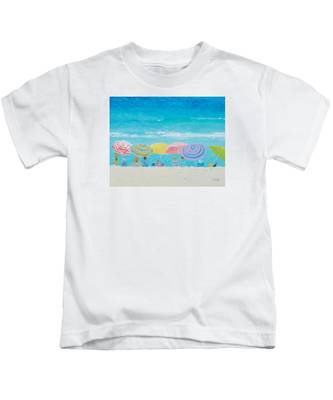 Beach Painting - Color Of Summer Kids T-Shirt