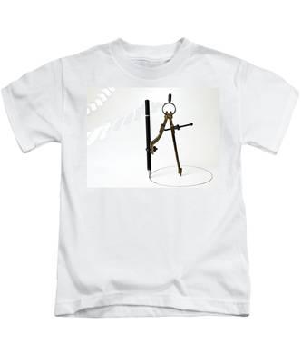 Brass Compass And Pencil Kids T-Shirt