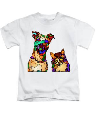 Buddies For Life. Pet Series Kids T-Shirt