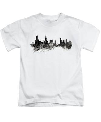 Chicago Black And White Kids T-Shirts