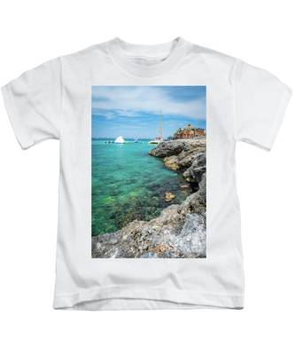Coastline In Montego Bay Kids T-Shirt