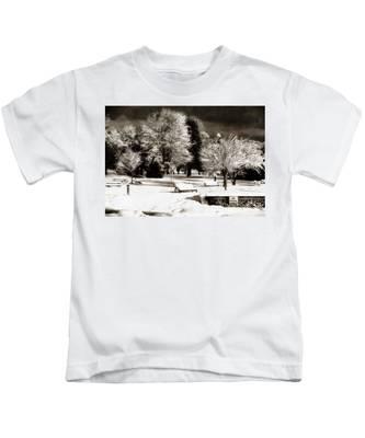Dark Skies And Winter Park Kids T-Shirt