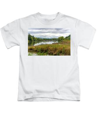 fort Clatsop on the Columbia River Kids T-Shirt