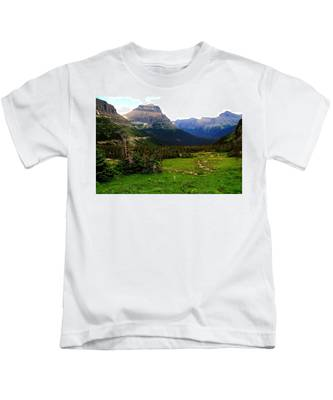 Going To The Sun Road Kids T-Shirt
