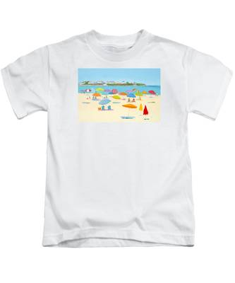 Hampton Beach Umbrellas Kids T-Shirt