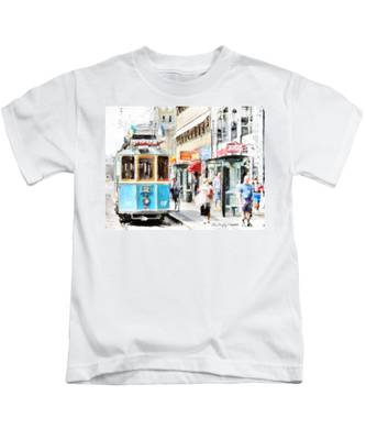 Historic Stockholm Tram Kids T-Shirt