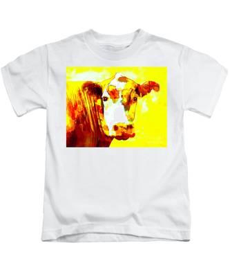 Yellow Cow Kids T-Shirt