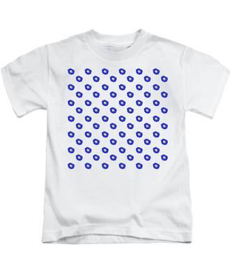 Morning Glory Pattern Kids T-Shirt