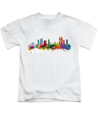 Mumbai Skyline India Bombay Kids T-Shirt