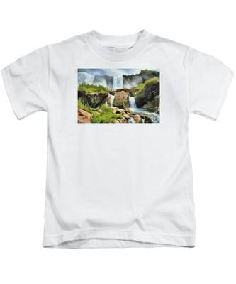 Niagara Falls Cave Of The Winds Kids T-Shirt