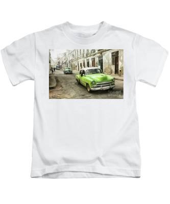Old Green Car Kids T-Shirt