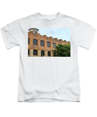 Old Mill Building In Buford Kids T-Shirt