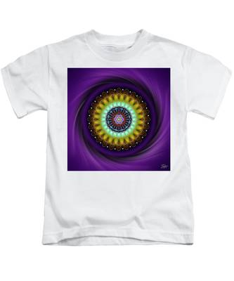 Kids T-Shirt featuring the digital art Sacred Geometry 710 by Endre Balogh
