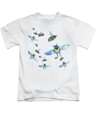 T-shirt With Bees Design Kids T-Shirt