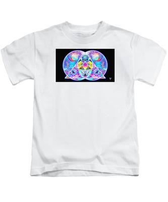 The Great Vesica Pyramid Kids T-Shirt by Derek Gedney