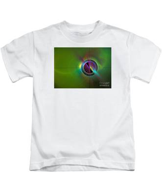 Theory Of Green - Abstract Art Kids T-Shirt