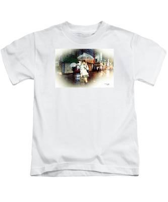 Rainy Tokyo Night Kids T-Shirt