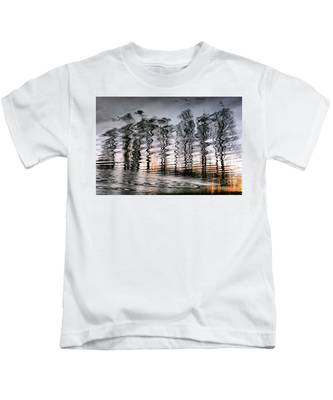 Tree And Reflection Kids T-Shirt