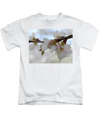 Dogwood Branch Pink Kids T-Shirt