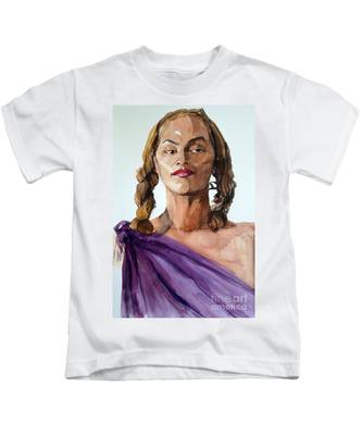 Portrait In Watercolor Of A Brooklyn Queen Kids T-Shirt