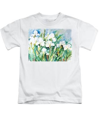 White Irises Kids T-Shirt
