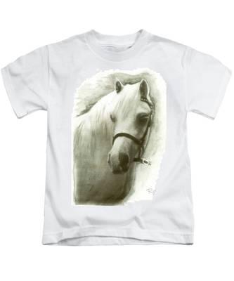 White Welsh Pony Kids T-Shirt