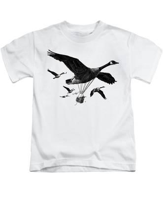 Aero Canada - Bw Kids T-Shirt