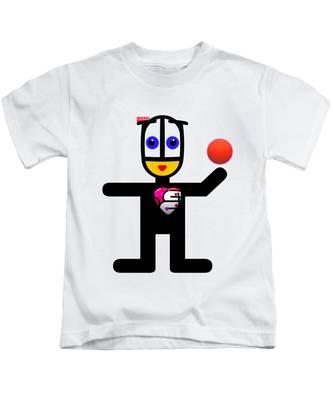 Cat With A Ball Kids T-Shirt